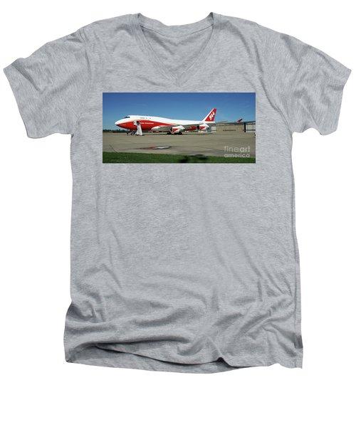 747 Supertanker Men's V-Neck T-Shirt by Bill Gabbert