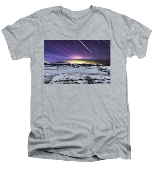 7,576 Seconds Men's V-Neck T-Shirt