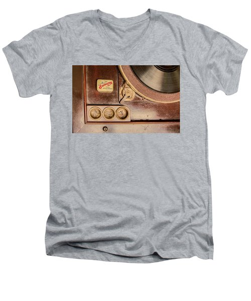 Men's V-Neck T-Shirt featuring the photograph 78 Rpm And Accessories by Gary Slawsky