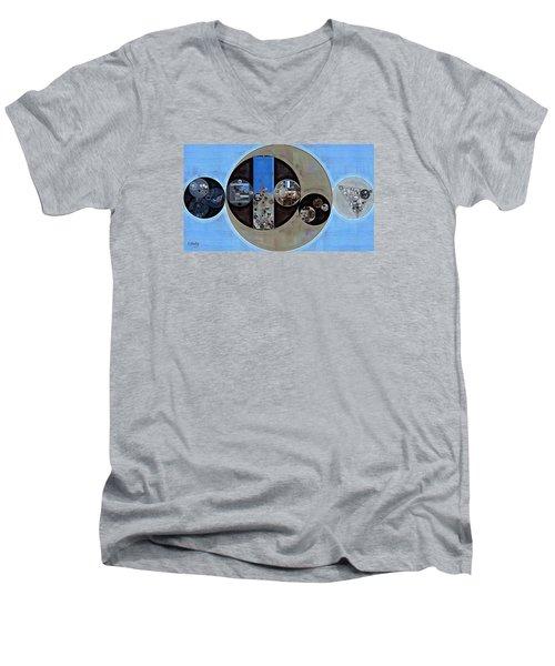 Abstract Painting - Onyx Men's V-Neck T-Shirt by Vitaliy Gladkiy