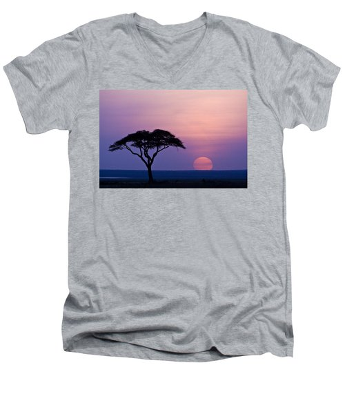 African Sunrise Men's V-Neck T-Shirt