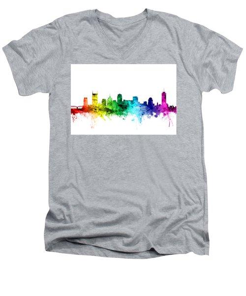 Nashville Tennessee Skyline Men's V-Neck T-Shirt