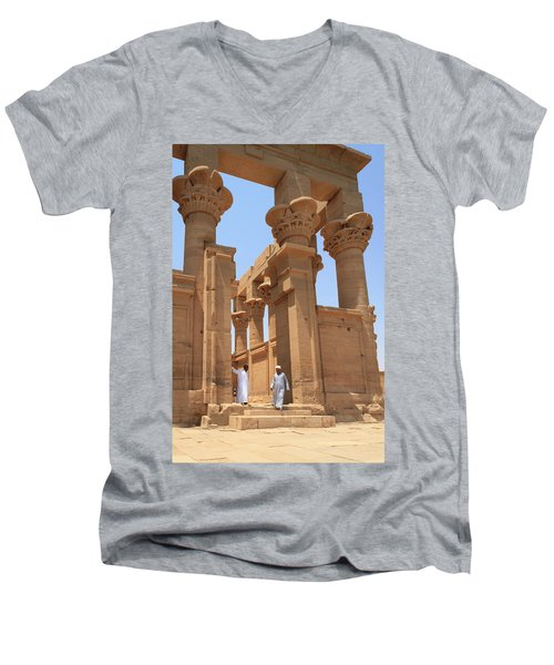 Temple Of Isis Men's V-Neck T-Shirt by Silvia Bruno