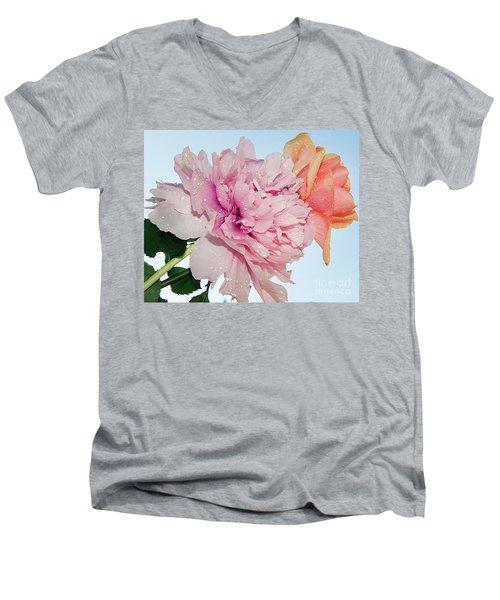 Two Flowers Men's V-Neck T-Shirt