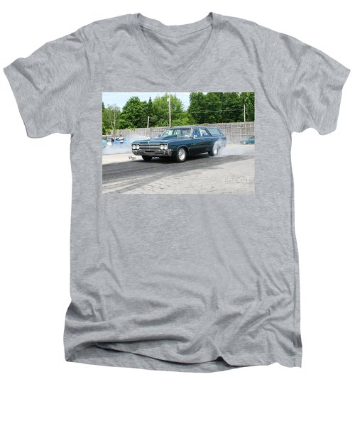 8571 06-15-2015 Esta Safety Park Men's V-Neck T-Shirt