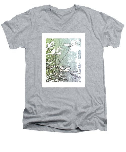 Men's V-Neck T-Shirt featuring the photograph #88 by Steve Godleski