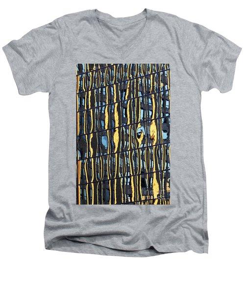 Abstract Reflection Men's V-Neck T-Shirt by Tony Cordoza
