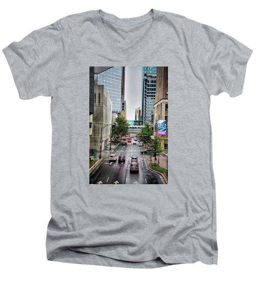 Charlotte North Carolina Views Around  Downtown Men's V-Neck T-Shirt