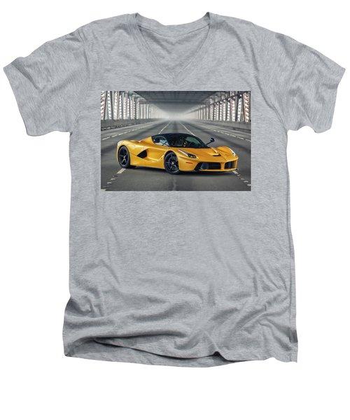 #ferrari #laferrari Men's V-Neck T-Shirt