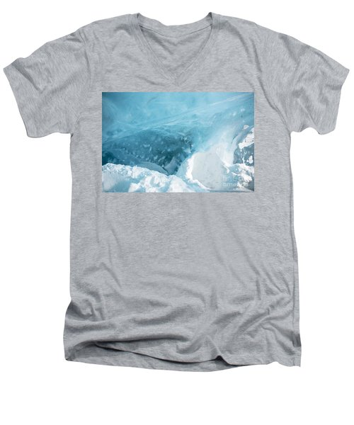 Men's V-Neck T-Shirt featuring the photograph Iceland by Milena Boeva