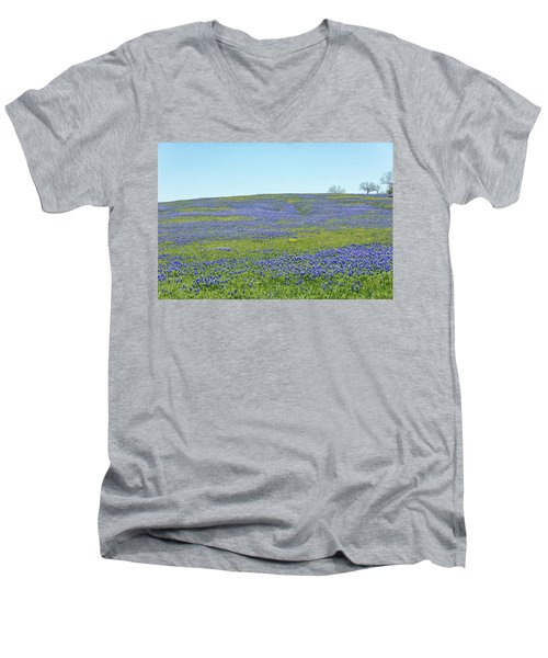 Texas Bluebonnets 12 Men's V-Neck T-Shirt