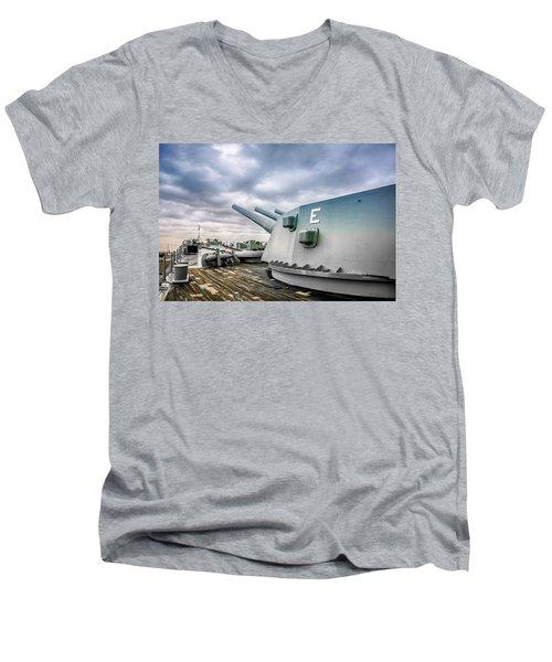 Uss Alabama Men's V-Neck T-Shirt by Chris Smith