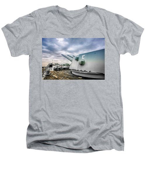 Uss Alabama Men's V-Neck T-Shirt
