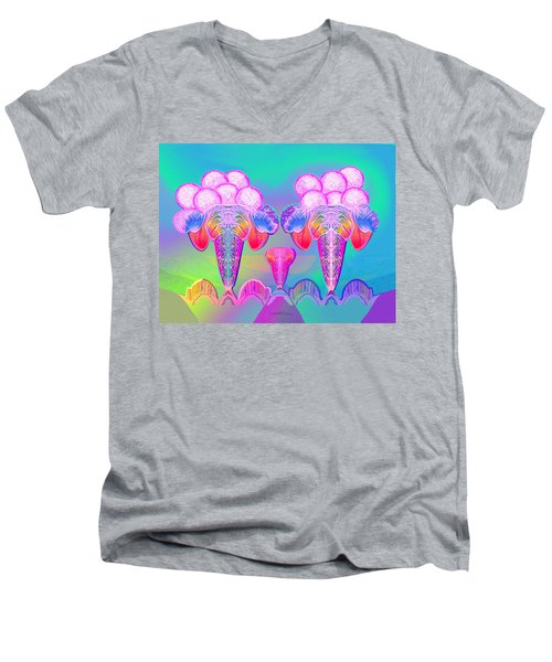 917 - Icecream Summerfruit A  Men's V-Neck T-Shirt