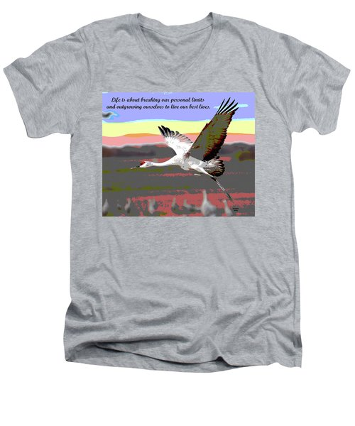 Motivational Quotes Men's V-Neck T-Shirt