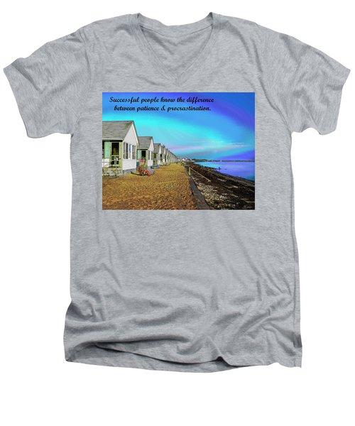 Motivational Quotes Men's V-Neck T-Shirt by Charles Shoup