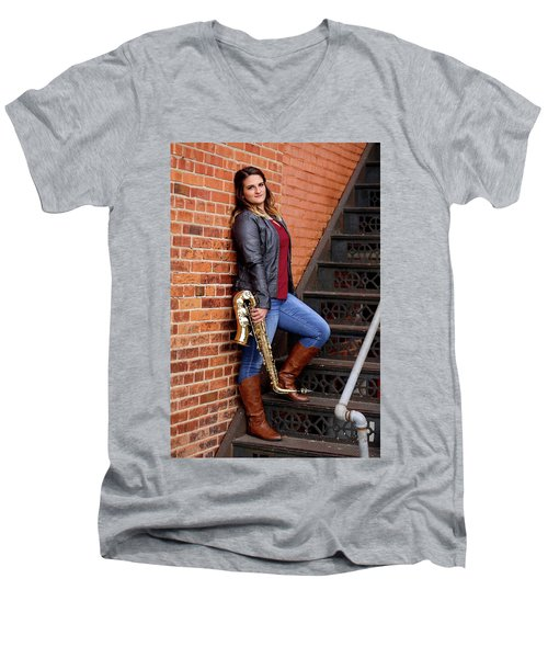 9g5a9460_ee Men's V-Neck T-Shirt by Sylvia Thornton