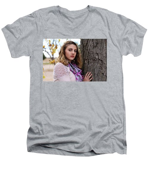 9g5a9596_e_pp Men's V-Neck T-Shirt by Sylvia Thornton