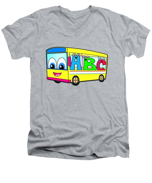 A B C Bus T-shirt Men's V-Neck T-Shirt