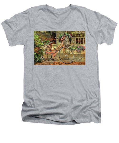 A Basketful Of Spring Men's V-Neck T-Shirt