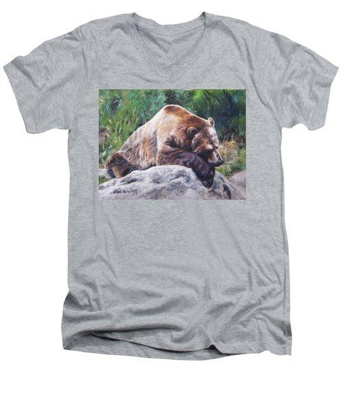 A Bear Of A Prayer Men's V-Neck T-Shirt