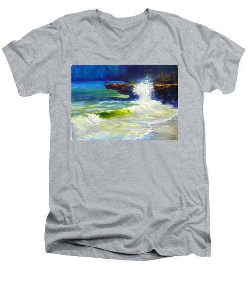 A Big Wave Men's V-Neck T-Shirt