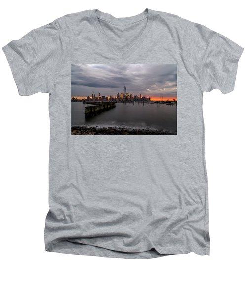 A Blaze Of Glory Men's V-Neck T-Shirt