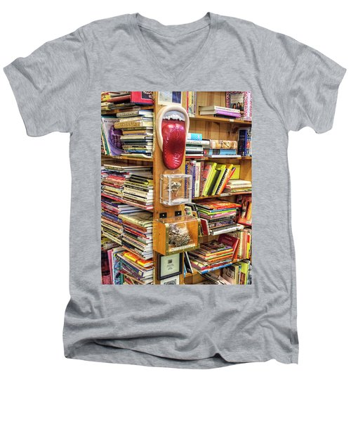 A Bookstore For All Tastes Men's V-Neck T-Shirt by Greg Sigrist
