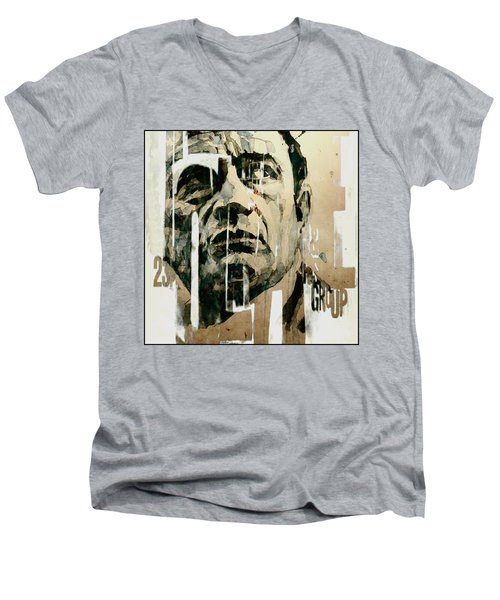 A Boy Named Sue Men's V-Neck T-Shirt by Paul Lovering
