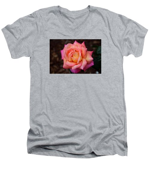 Men's V-Neck T-Shirt featuring the photograph A Breath From Sarasota by Michiale Schneider