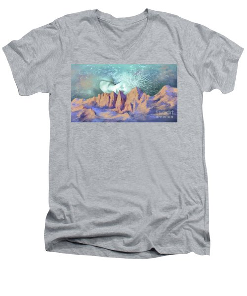 A Breath Of Tranquility Men's V-Neck T-Shirt