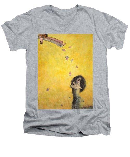 A Bridge Men's V-Neck T-Shirt