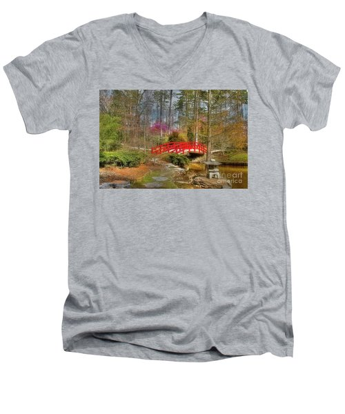 A Bridge To Spring Men's V-Neck T-Shirt