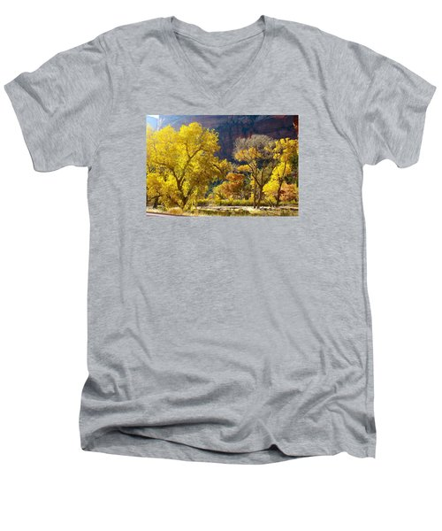 A Bright Gathering Of Trees Men's V-Neck T-Shirt