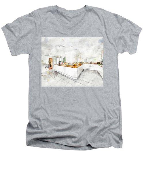 A Bright White Kitchen Men's V-Neck T-Shirt
