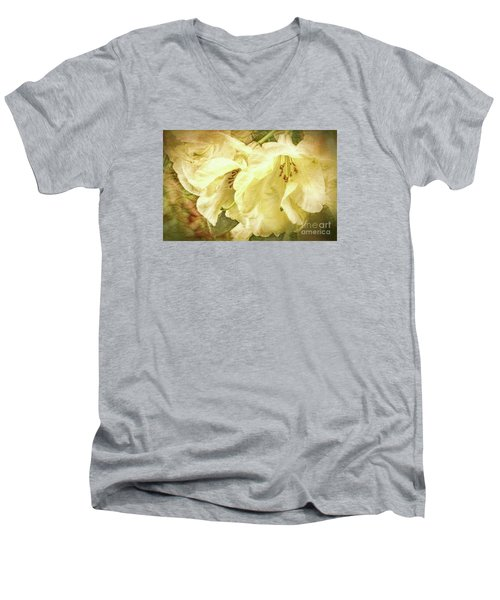 Men's V-Neck T-Shirt featuring the photograph A Bunch Of Birthday Wishes by Jean OKeeffe Macro Abundance Art