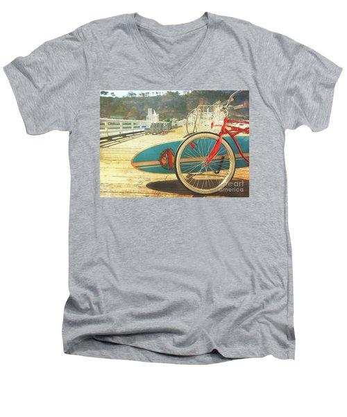 A California Postcard Men's V-Neck T-Shirt