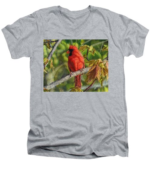 A Cardinal Named Carl Men's V-Neck T-Shirt