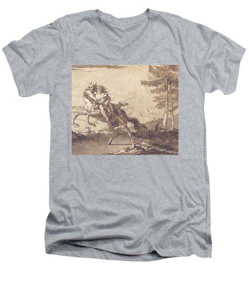 A Centaur Abducting A Nymph Men's V-Neck T-Shirt