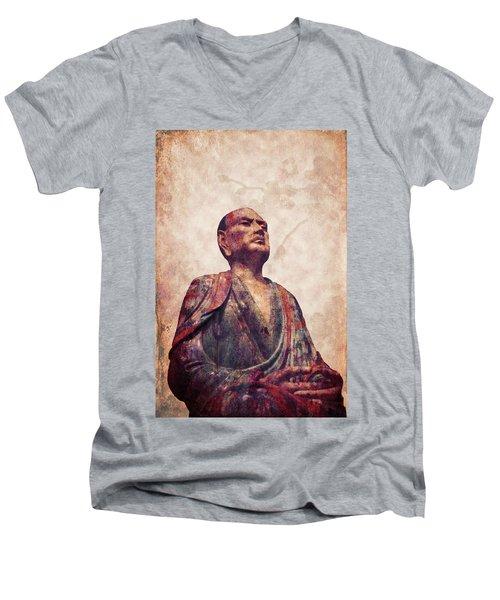 Buddha 5 Men's V-Neck T-Shirt by Lynn Sprowl