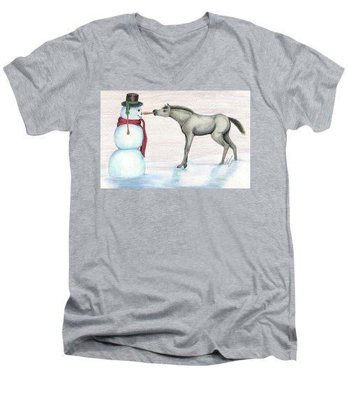 A Christmas Carrot Men's V-Neck T-Shirt