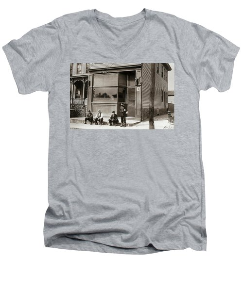 A Coal Miners Bar  George Ave Parsons Pennsylvania Early 1900s Men's V-Neck T-Shirt