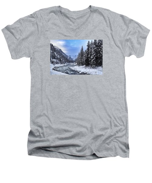 A Cold Winter Day  Men's V-Neck T-Shirt