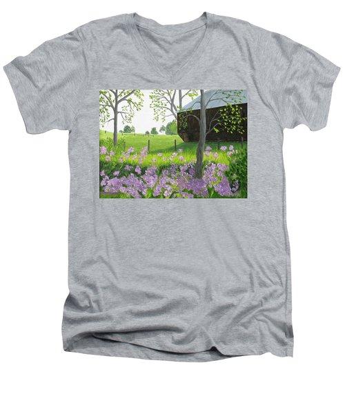 A Color Stands Abroad Men's V-Neck T-Shirt
