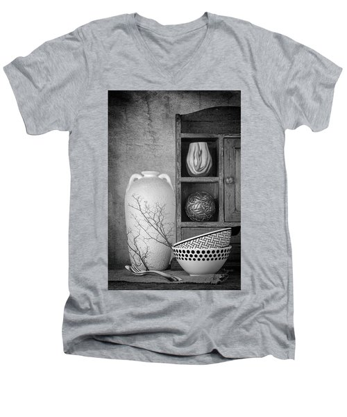 Men's V-Neck T-Shirt featuring the photograph A Corner Of The Kitchen by Tom Mc Nemar