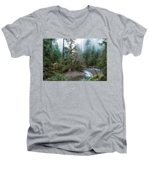 A Creek Runs Through It Men's V-Neck T-Shirt