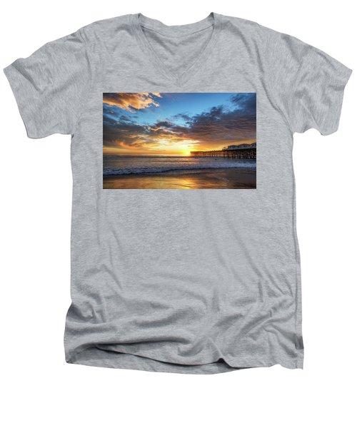 A Crystal Sunset Men's V-Neck T-Shirt by Joseph S Giacalone