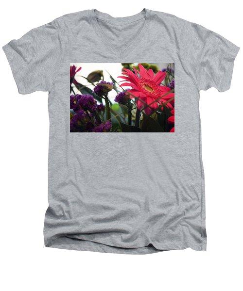 A Daisy And Friends Men's V-Neck T-Shirt by Karen Nicholson