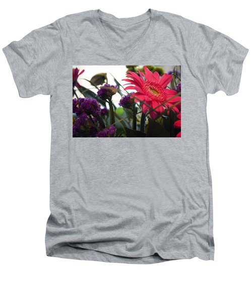 A Daisy And Friends Men's V-Neck T-Shirt
