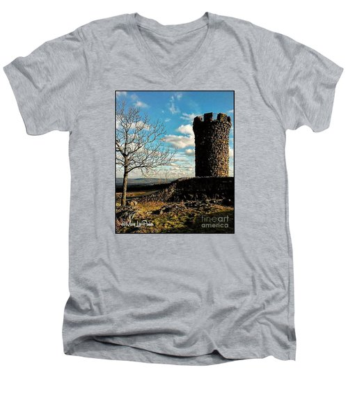 A Day At  Craigs  Castle   Men's V-Neck T-Shirt